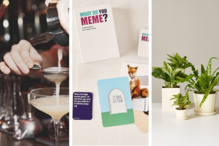 Mixology Class in Seattle (from $61),  What Do You Meme? Card Game ($30),  Love Fern ($120)